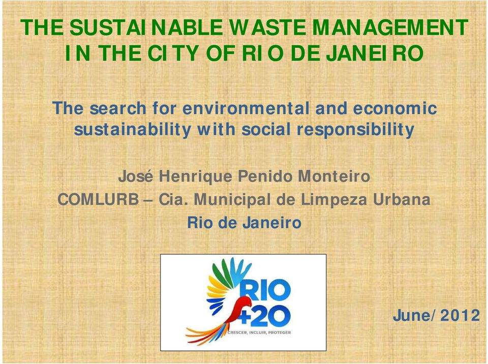 sustainability with social responsibility José Henrique