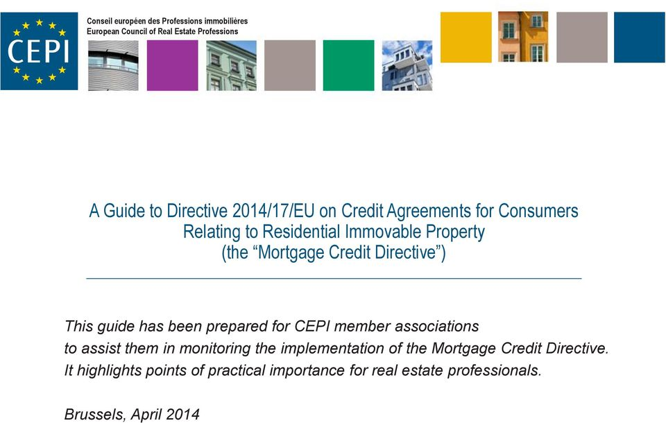 Directive ) This guide has been prepared for CEPI member associations to assist them in monitoring the implementation
