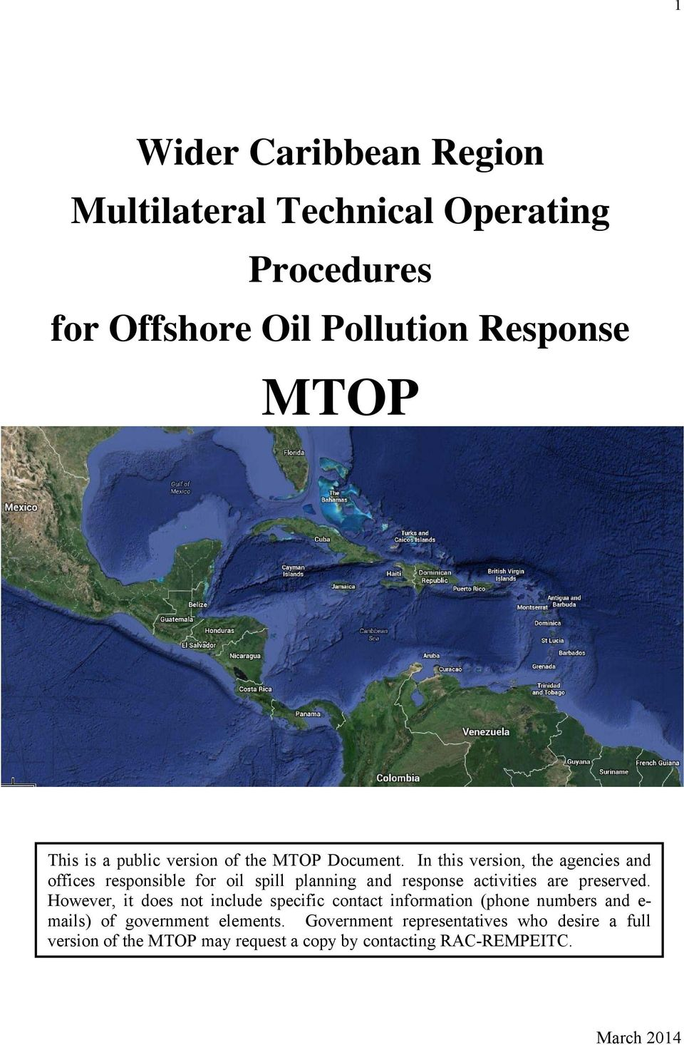 In this version, the agencies and offices responsible for oil spill planning and response activities are preserved.