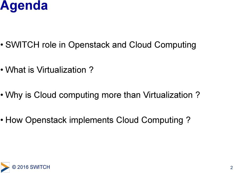 Why is Cloud computing more than