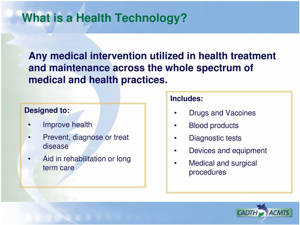 spectrum of medical and health practices.