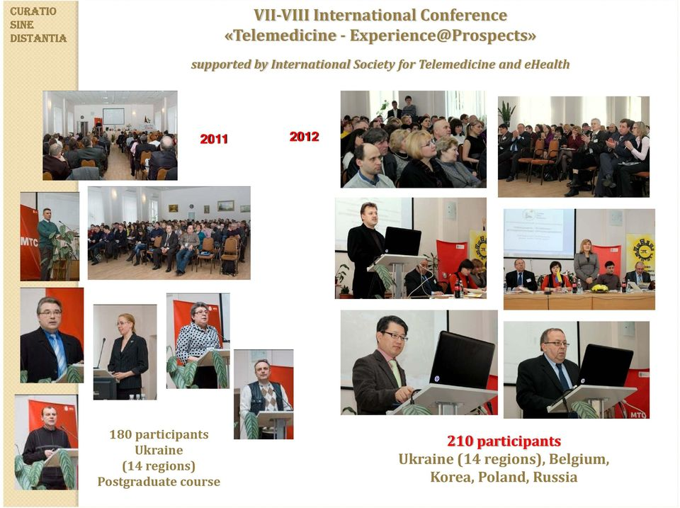fortelemedicine and ehealth 2011 2012 180 participants Ukraine (14