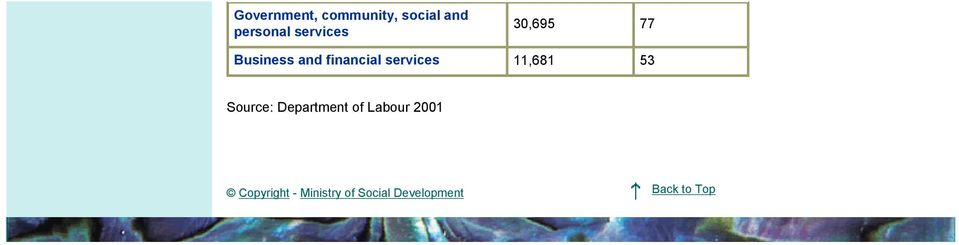 services 11,681 53 Source: Department of Labour