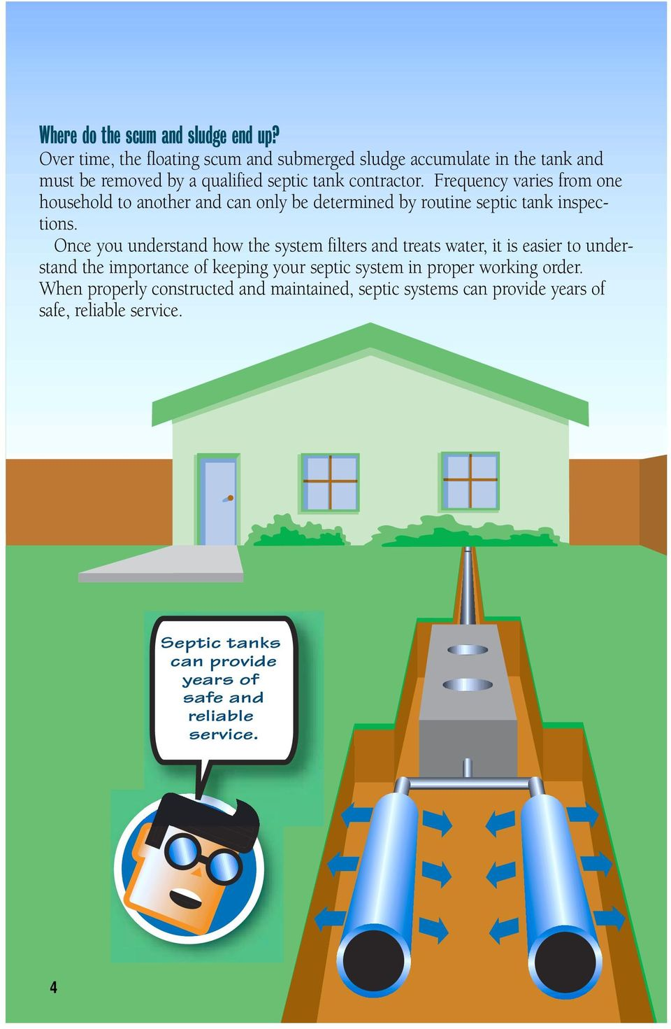 Frequency varies from one household to another and can only be determined by routine septic tank inspections.