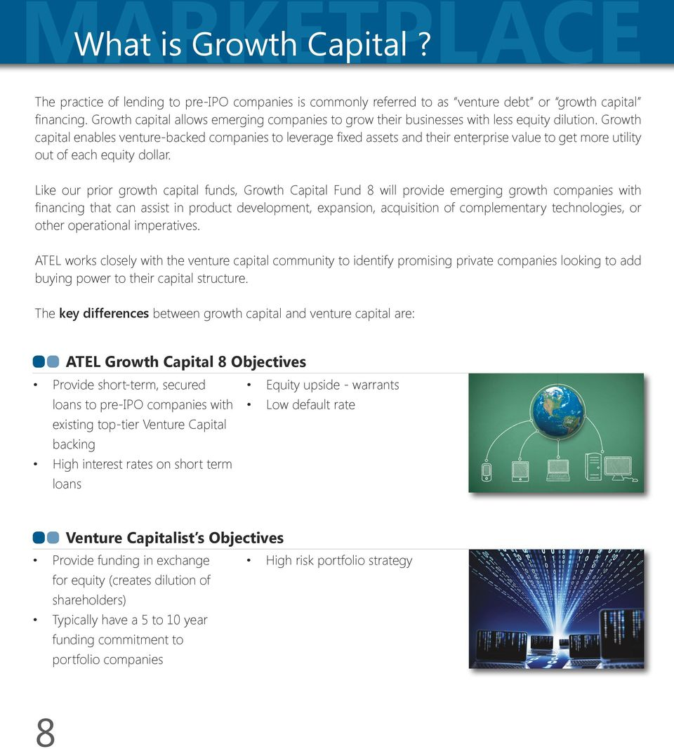 Growth capital enables venture-backed companies to leverage fixed assets and their enterprise value to get more utility out of each equity dollar.
