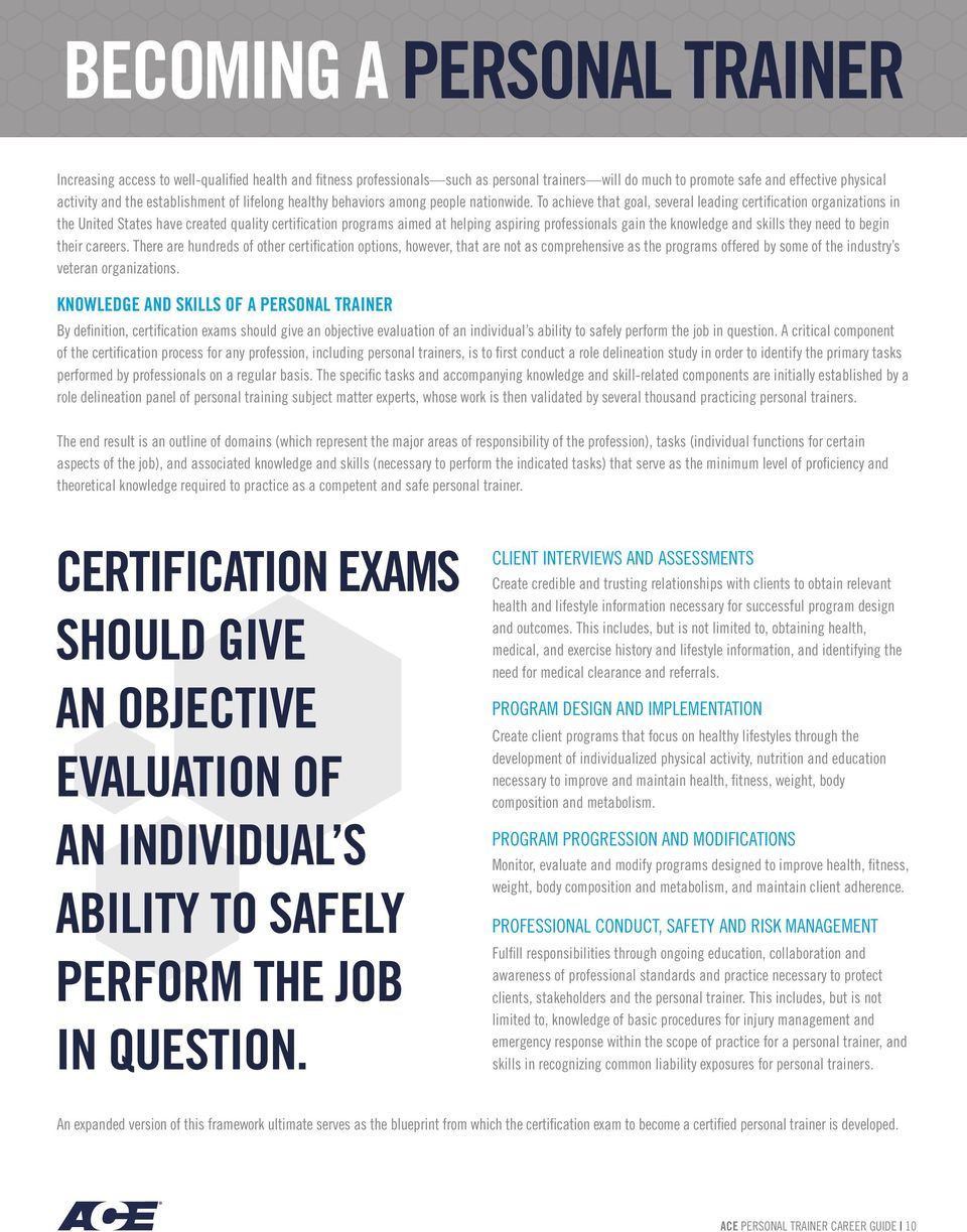 Certified Personal Trainer Certification Free Professional Resume