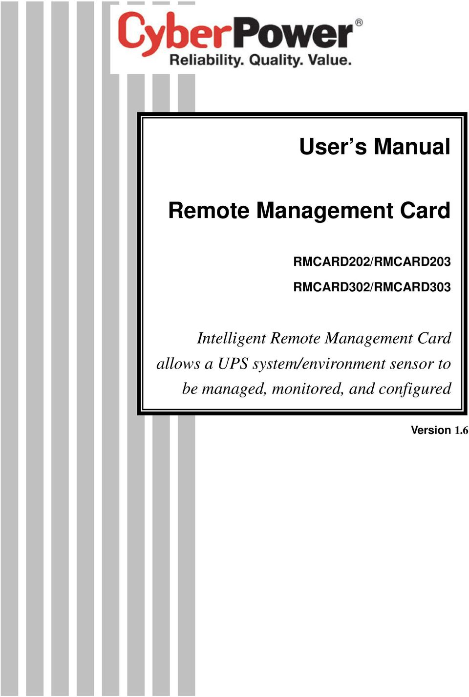 Intelligent Remote Management Card allows a UPS