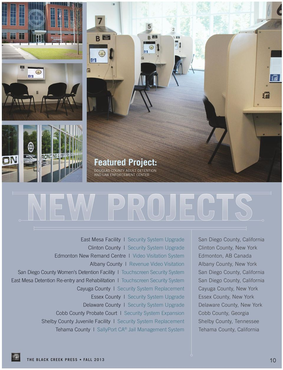 QUARTERLY NEWSLETTER FALL Black Creek Becomes IMAGE Certified  p  9