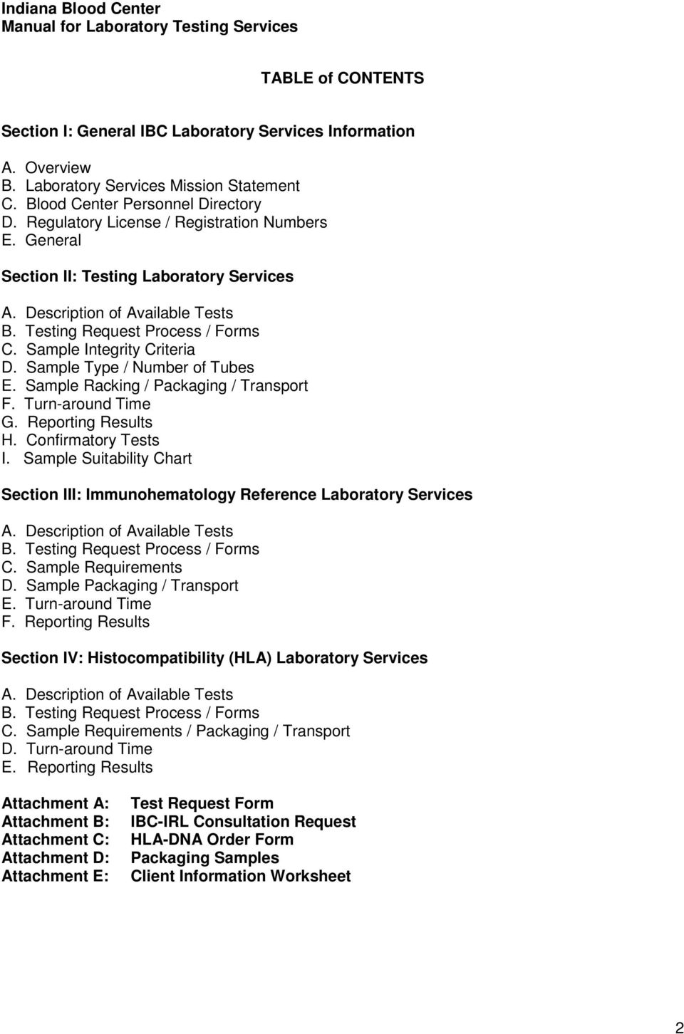 Customer Resource Manual For Laboratory Testing Services - PDF