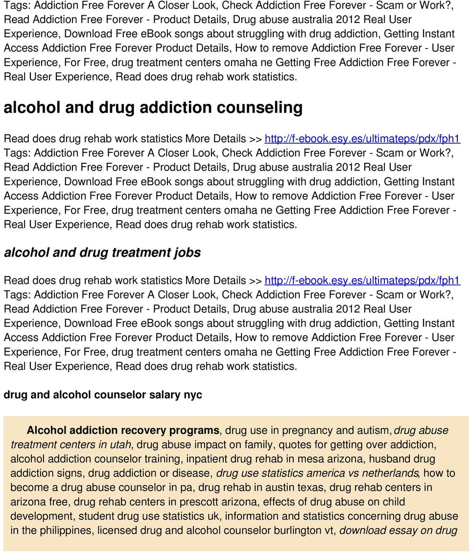 , alcohol and drug treatment jobs Read does drug rehab work statistics More Details >> http://f-ebook.esy.
