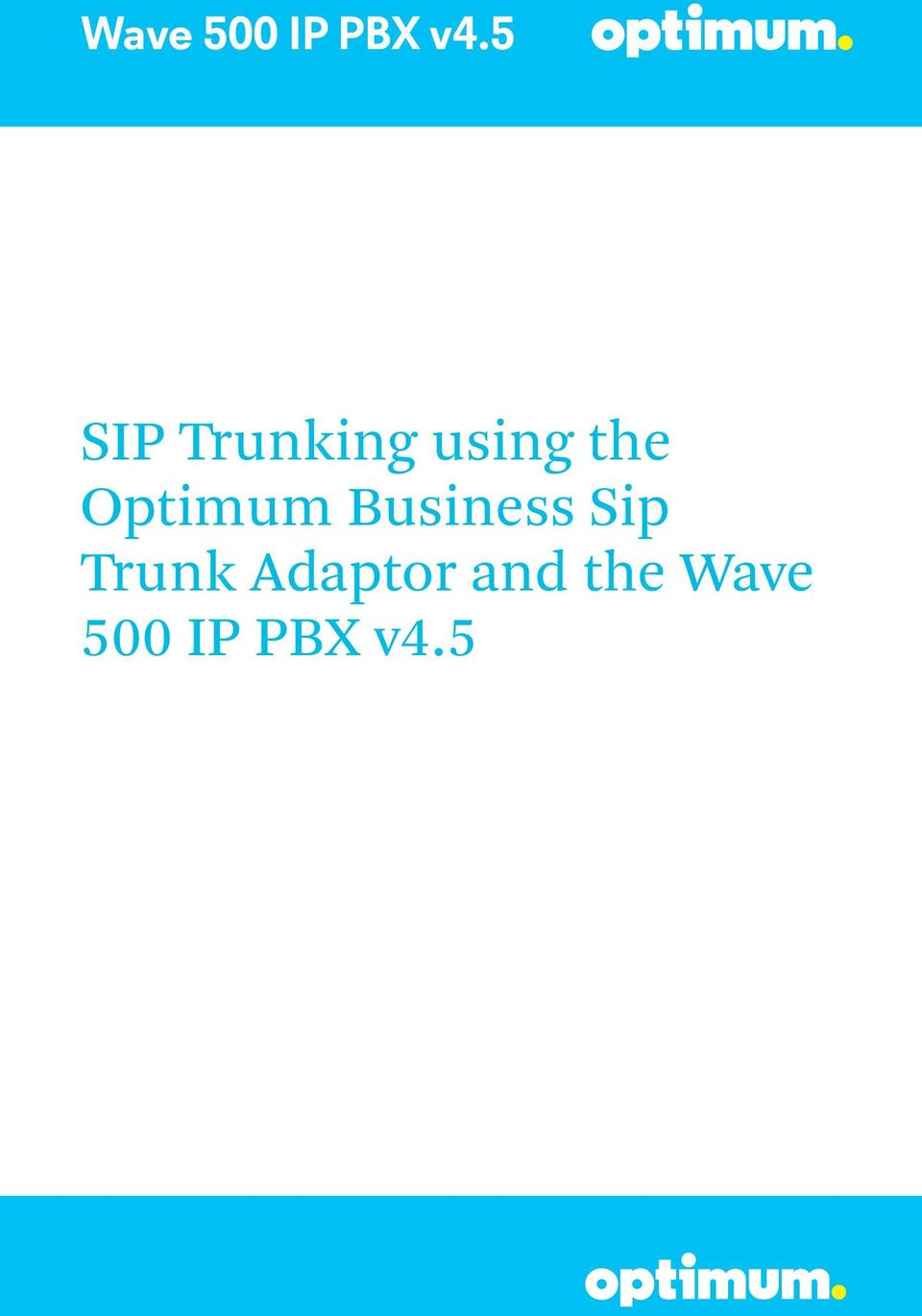 Sip Trunk Adaptor and
