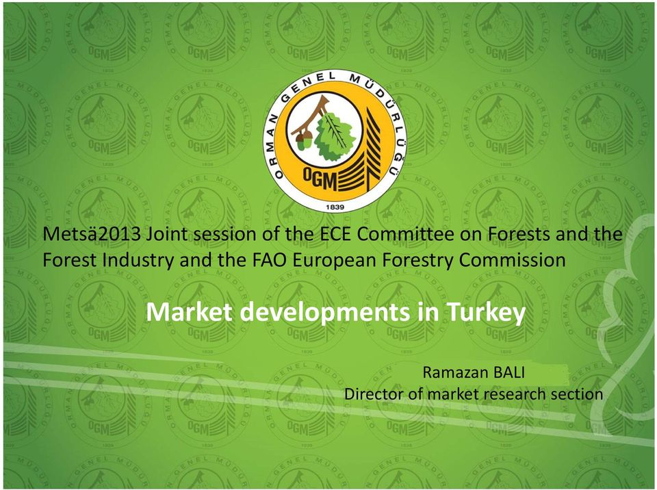 European Forestry Commission Market developments