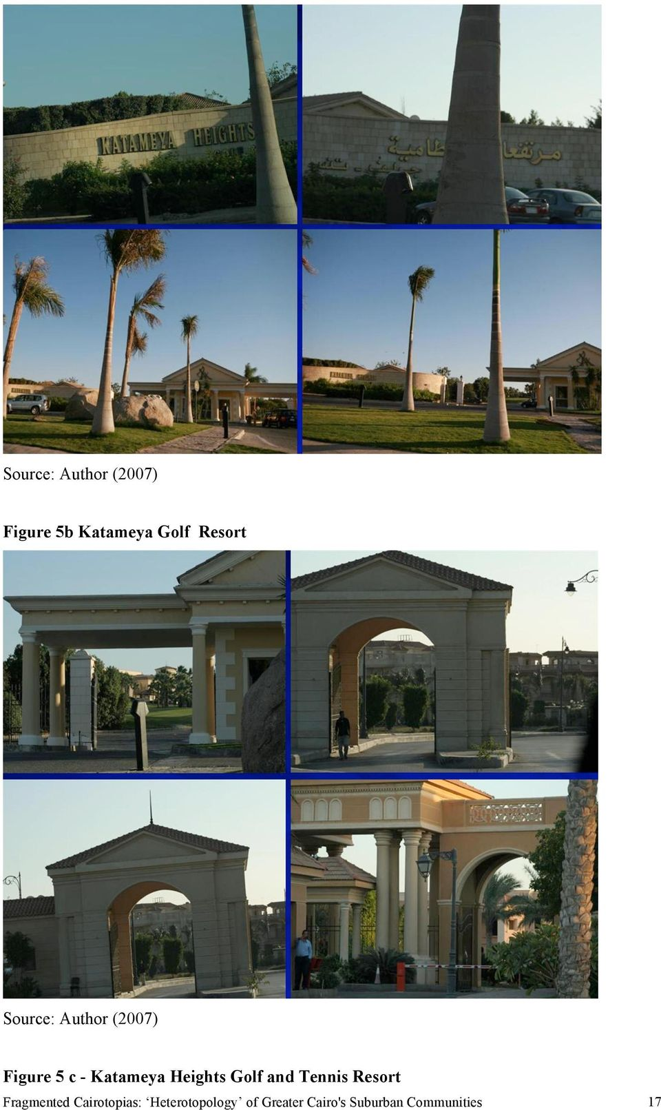 Golf and Tennis Resort Fragmented Cairotopias:
