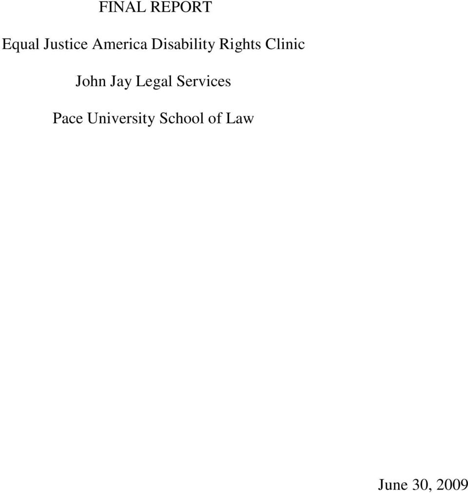 Clinic John Jay Legal Services