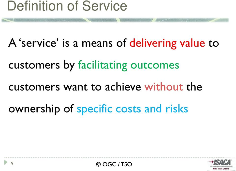 facilitating outcomes customers want to