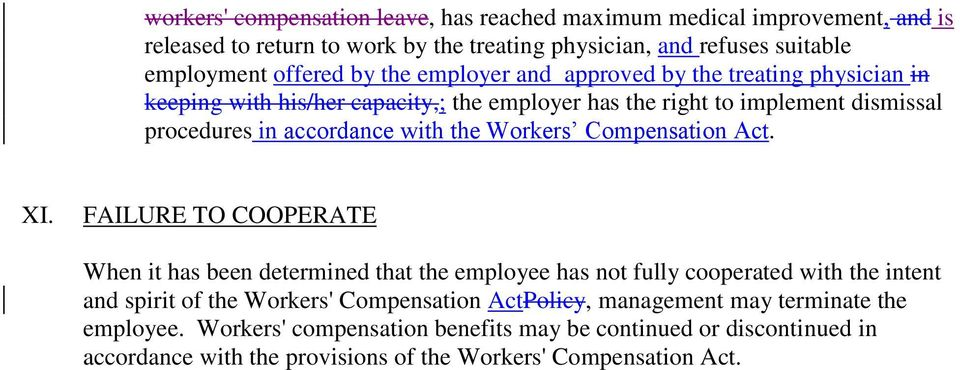 Workers Compensation Act. XI.