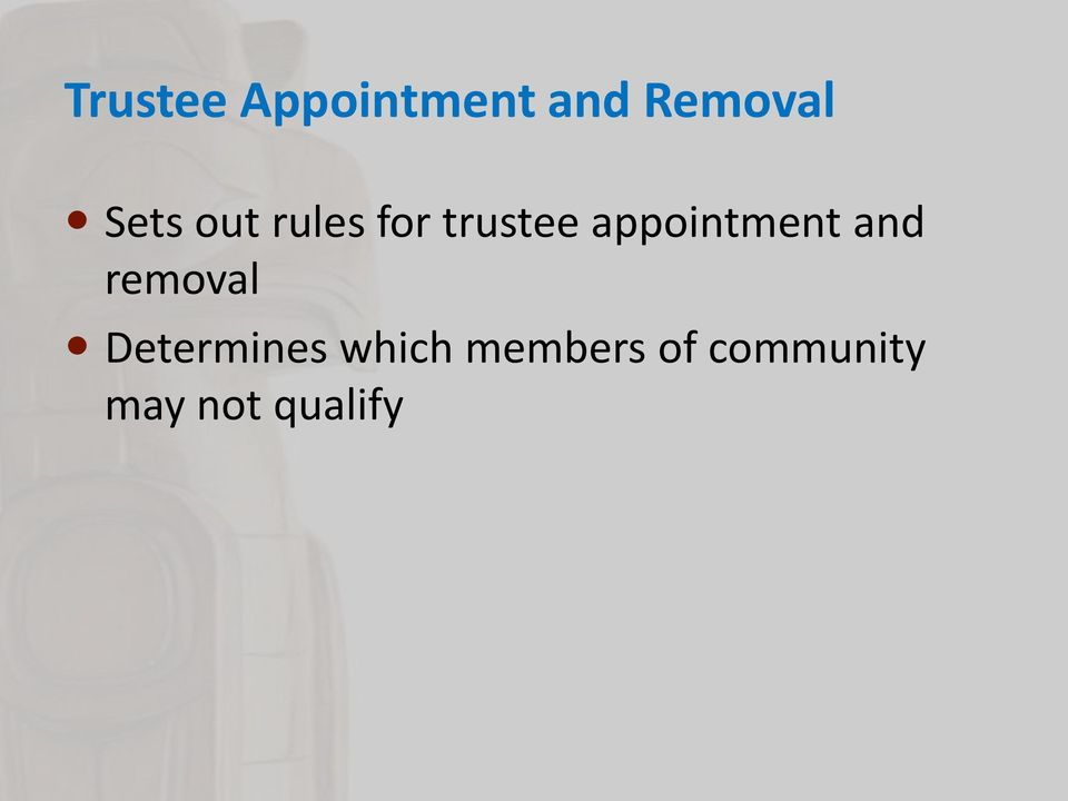 appointment and removal