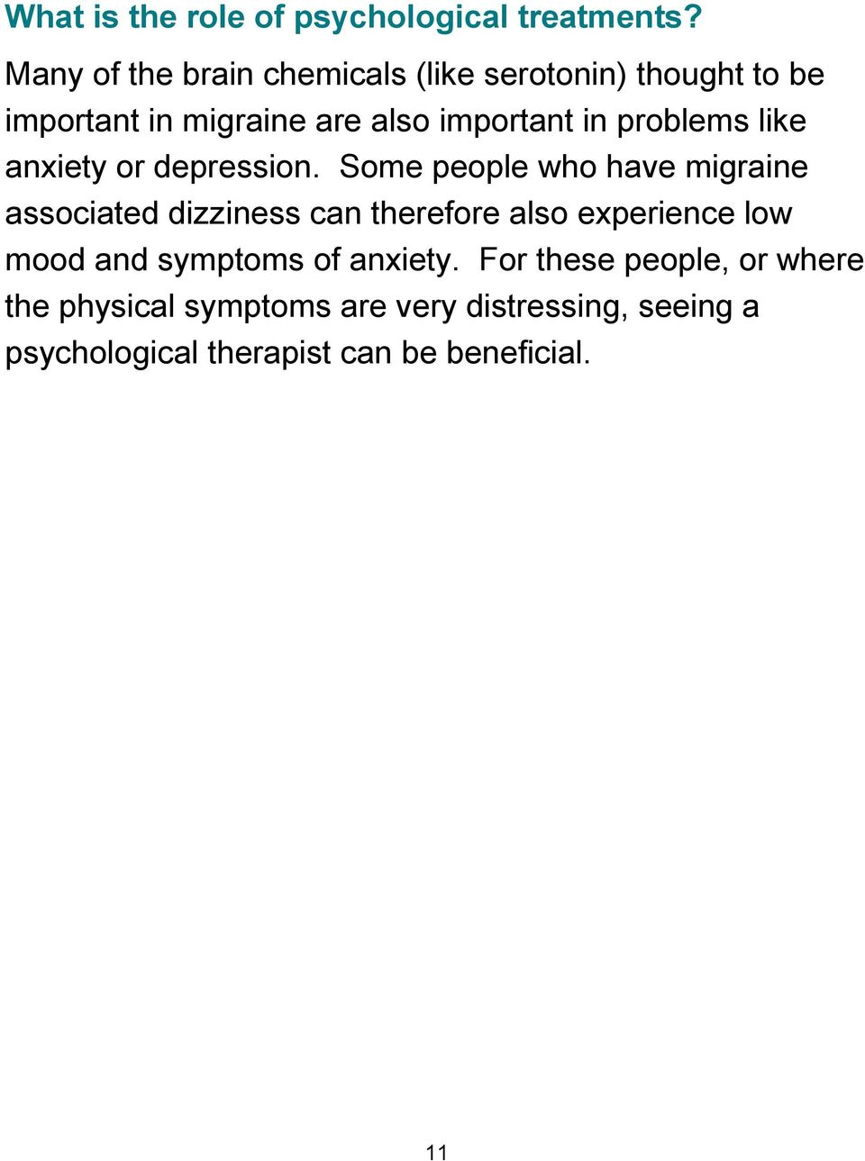 problems like anxiety or depression.
