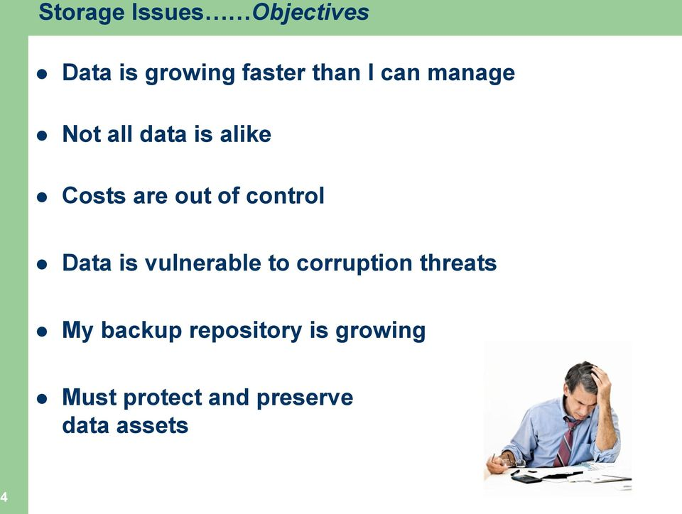 control Data is vulnerable to corruption threats My
