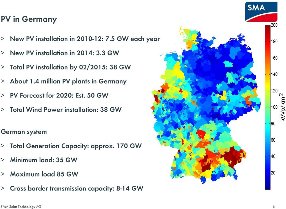 4 million PV plants in Germany > PV Forecast for 2020: Est.