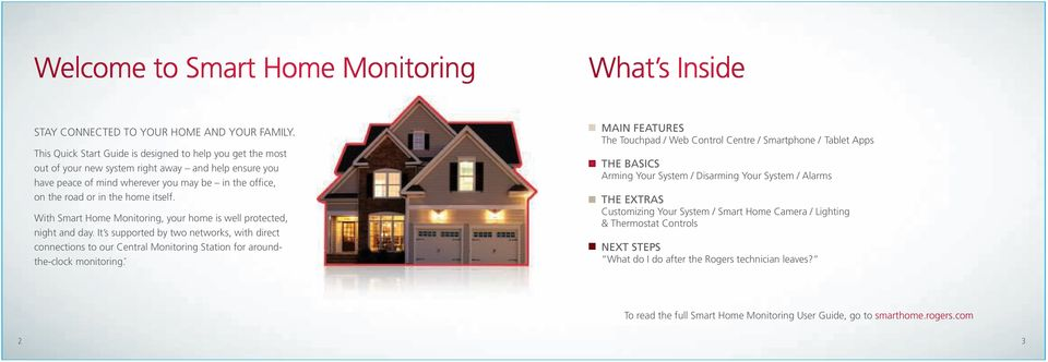 itself. With Smart Home Monitoring, your home is well protected, night and day.