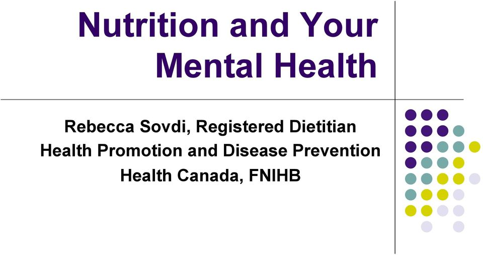 Dietitian Health Promotion and
