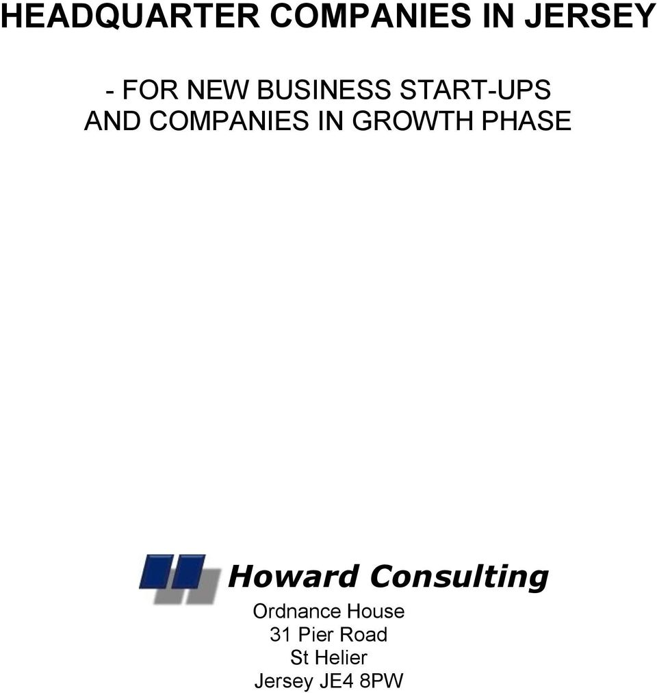 GROWTH PHASE Howard Consulting Ordnance