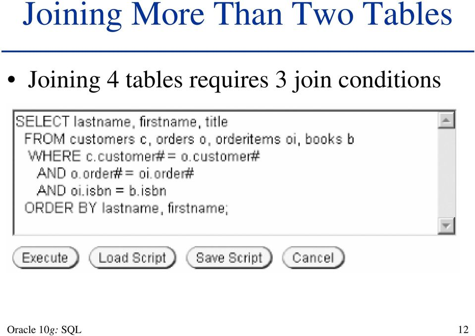 tables requires 3 join