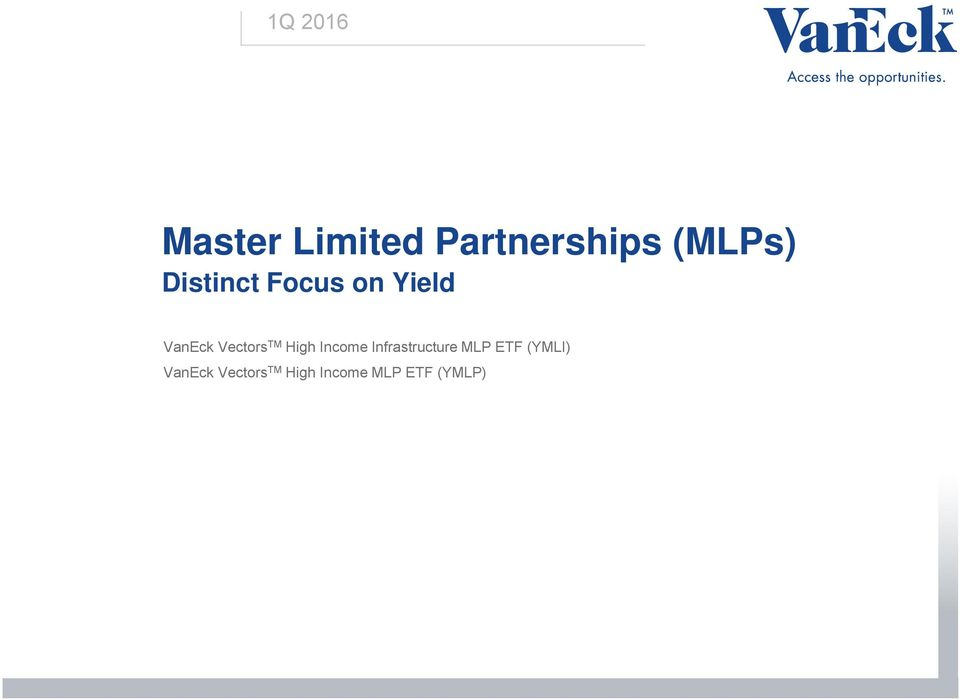 High Income Infrastructure MLP ETF (YMLI)
