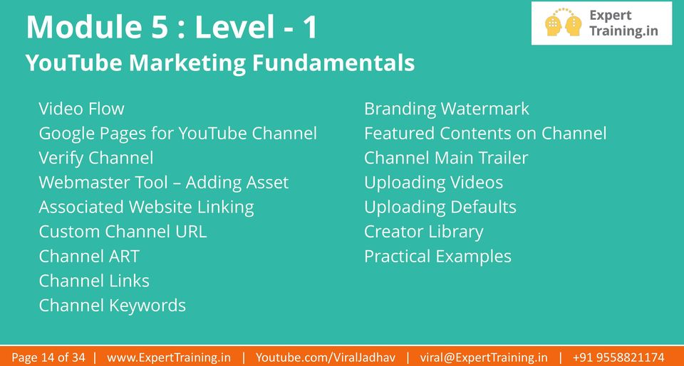 Branding Watermark Featured Contents on Channel Channel Main Trailer Uploading Videos Uploading Defaults Creator