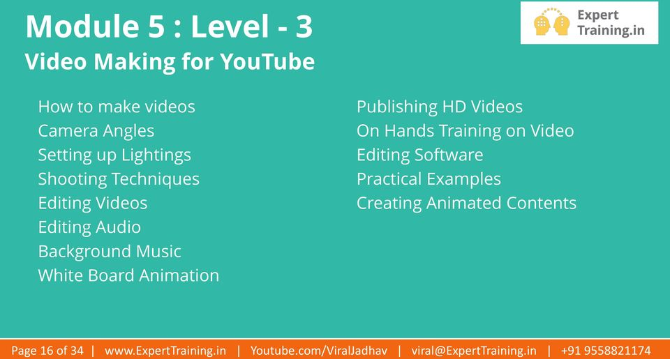 HD Videos On Hands Training on Video Editing Software Practical Examples Creating Animated Contents