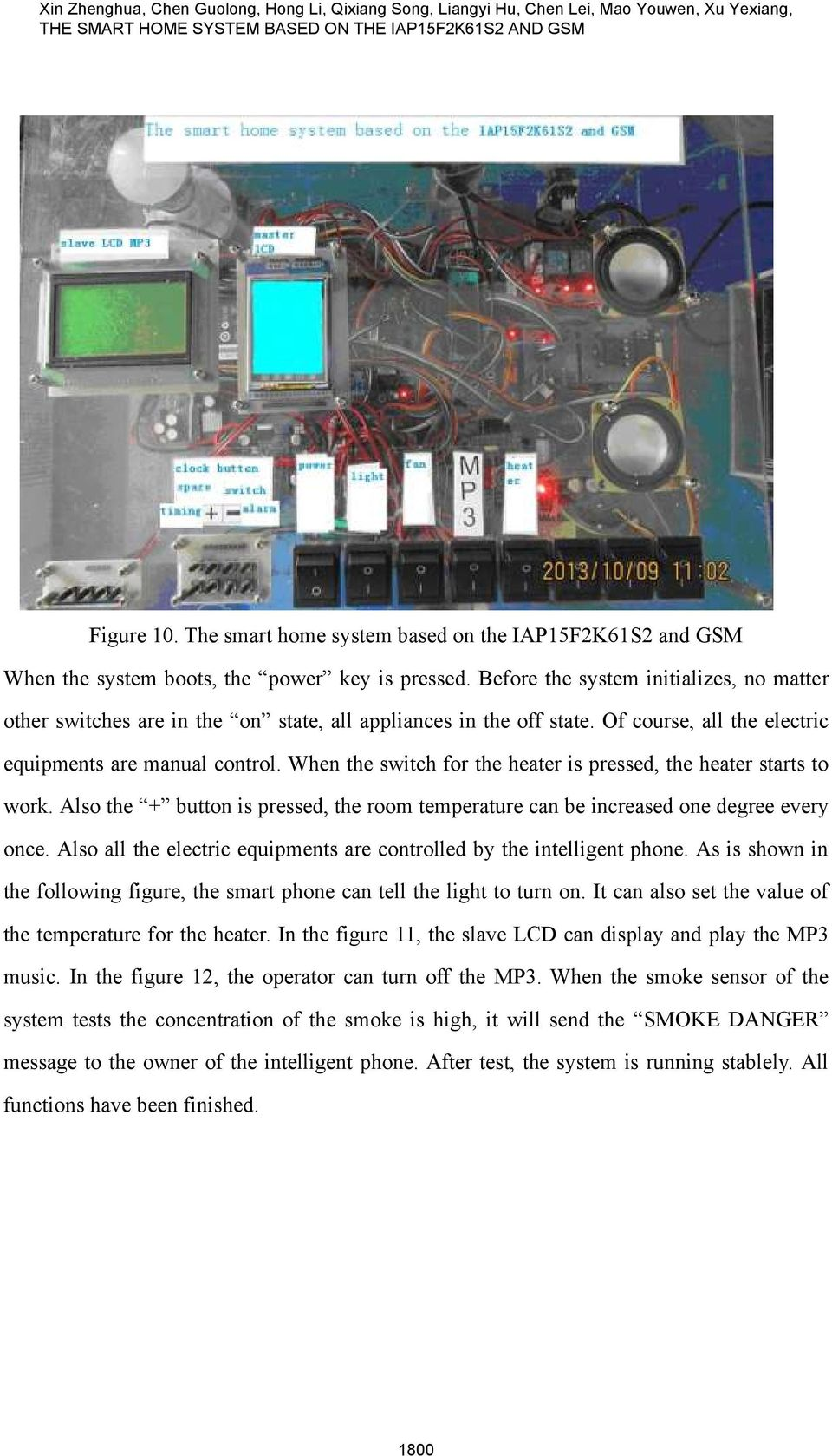 The Smart Home System Based On Iap15f2k61s2 And Gsm Pdf Smokesensor Circuit Combined With Zigbee Wsn Development Board Before Initializes No Matter Other Switches Are In State All