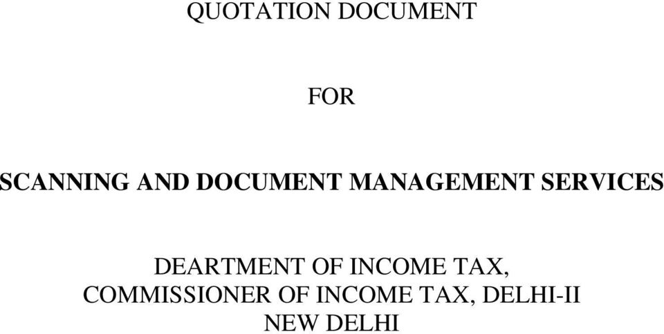 DEARTMENT OF INCOME TAX,