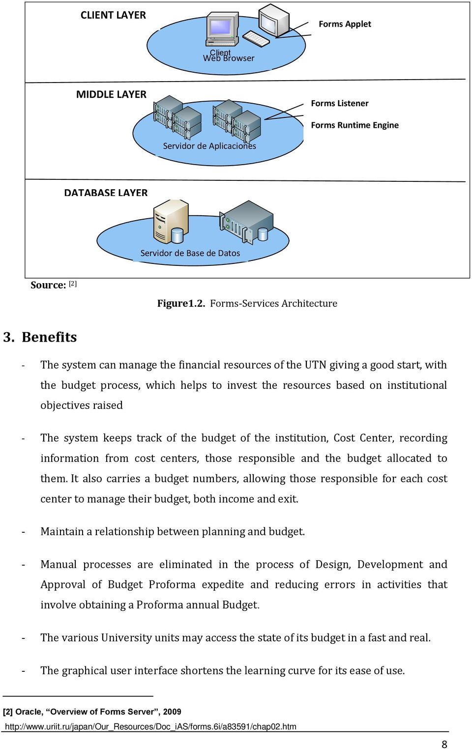 Benefits - The system can manage the financial resources of the UTN giving a good start, with the budget process, which helps to invest the resources based on institutional objectives raised - The