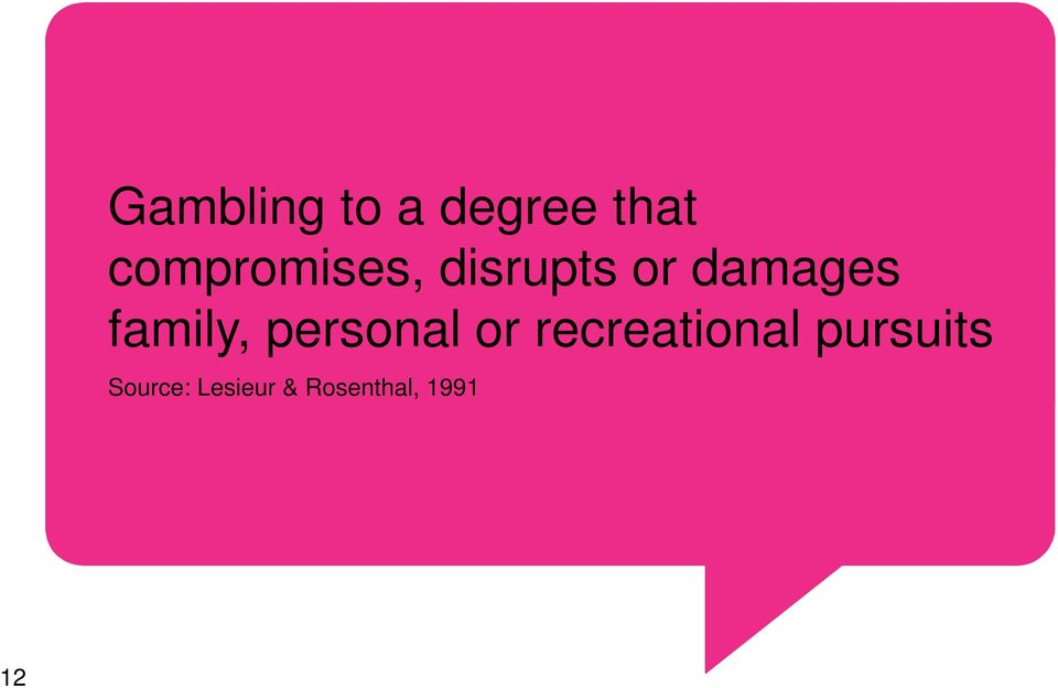 family, personal or recreational