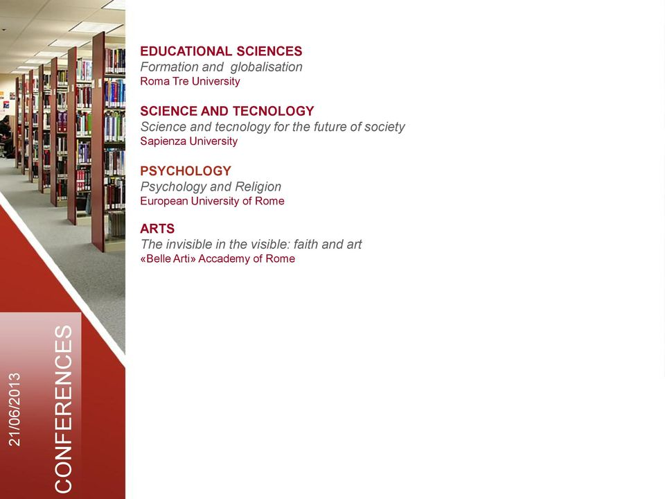 Sapienza University PSYCHOLOGY Psychology and Religion European University of