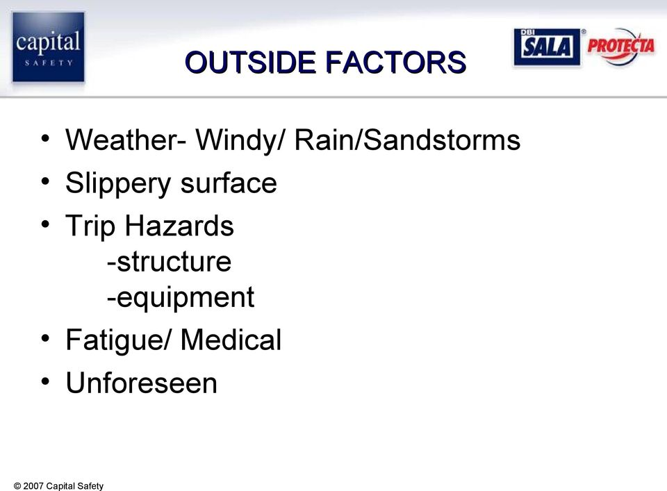 surface Trip Hazards -structure
