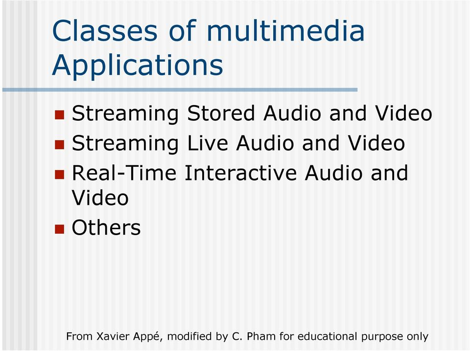 Streaming Live Audio and Video