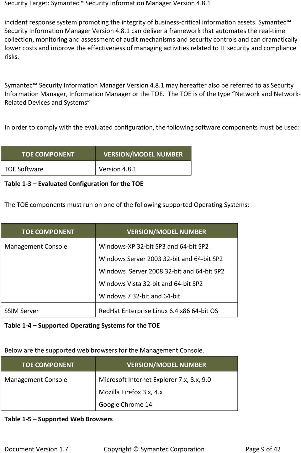 of managing activities related to IT security and compliance risks. Symantec Security Information Manager Version 4.8.