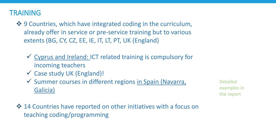 compulsory for incoming teachers Case study UK (England)!