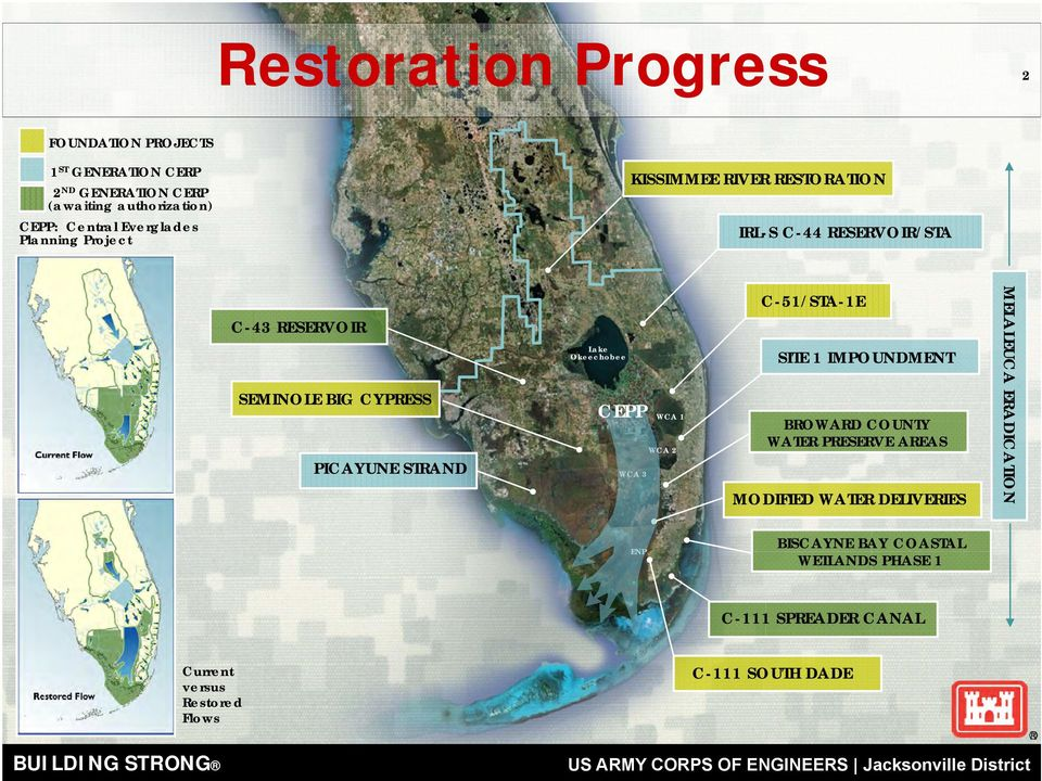 STRAND Lake Okeechobee CEPP WCA 3 WCA 1 WCA 2 C-51/STA-1E SITE 1 IMPOUNDMENT BROWARD COUNTY WATER PRESERVE AREAS MODIFIED WATER