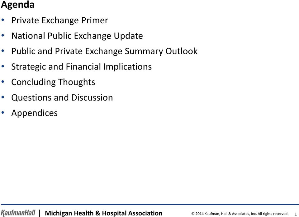 Concluding Thoughts Questions and Discussion Appendices Michigan Health &
