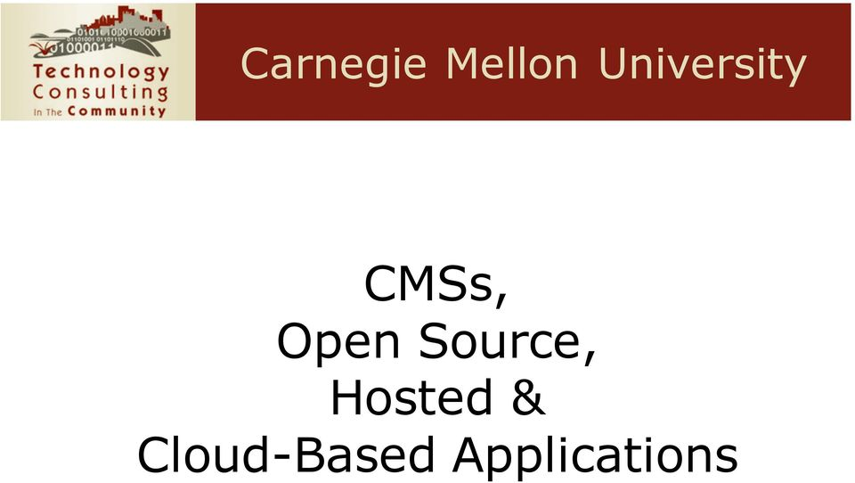 University CMSs, Open Source,