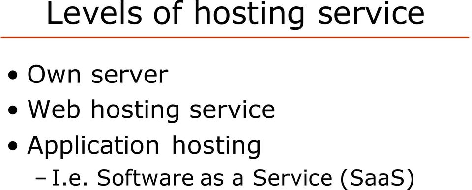 service Application hosting