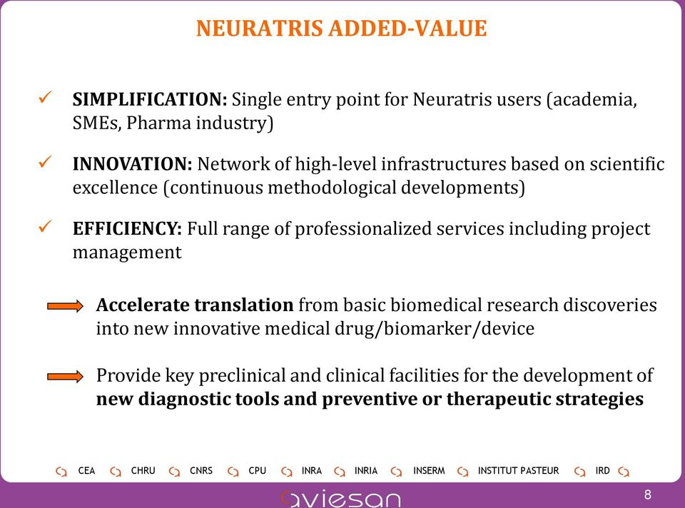 professionalized services including project management Accelerate translation from basic biomedical research discoveries into new innovative