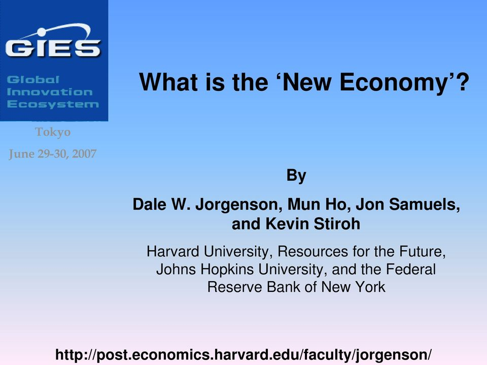 Resources for the Future, Johns Hopkins University, and the Federal