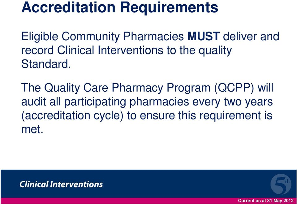 The Quality Care Pharmacy Program (QCPP) will audit all participating