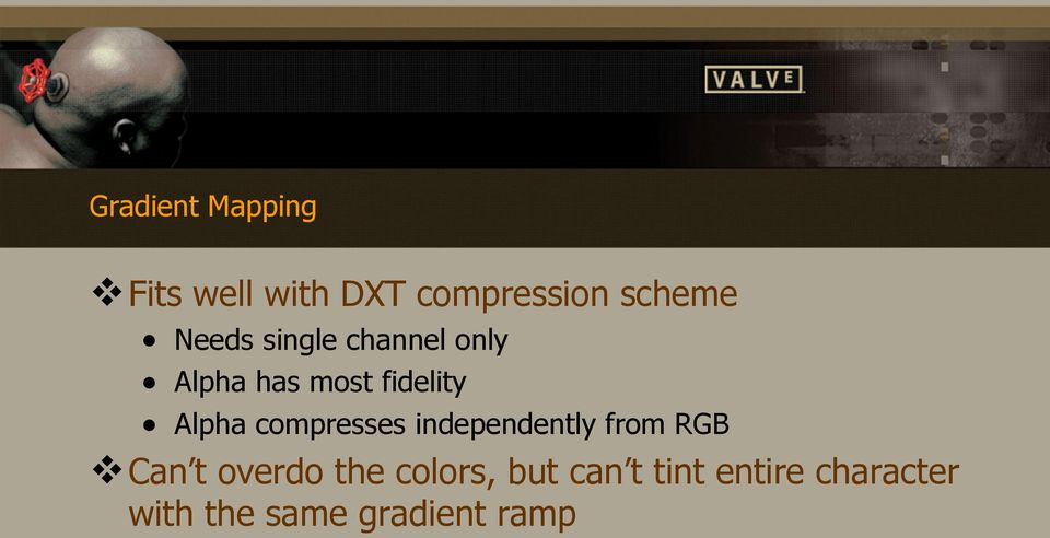 compresses independently from RGB Can t overdo the