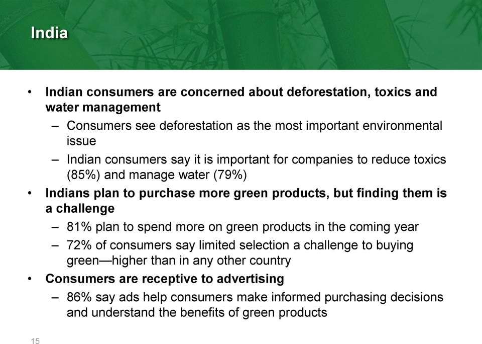 is a challenge 81% plan to spend more on green products in the coming year 72% of consumers say limited selection a challenge to buying green higher than in
