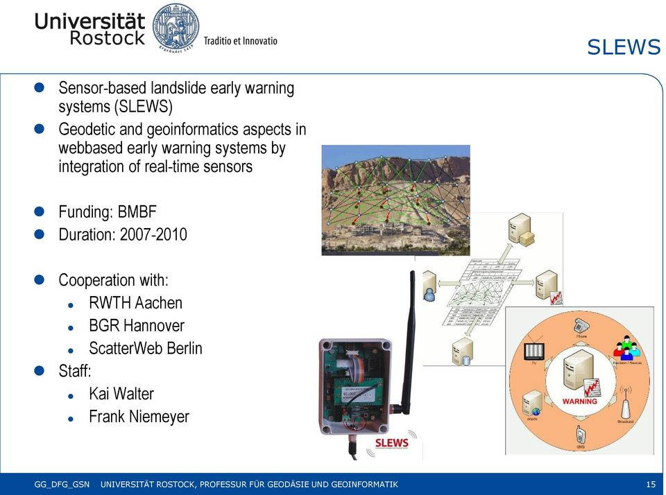 Duration: 2007-2010 Cooperation with: RWTH Aachen BGR Hannover ScatterWeb Berlin Staff: Kai